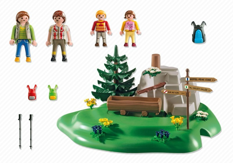 Playmobil 5424 - Backpacker Family at Mountain Spring - Back