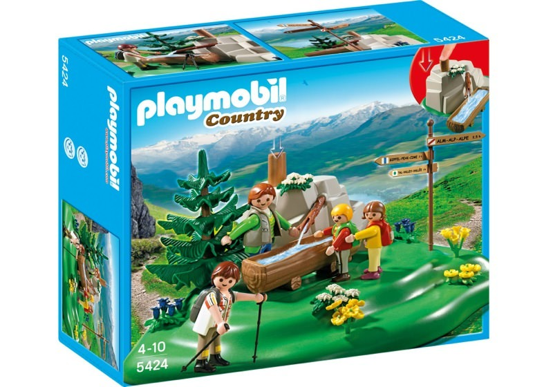 Playmobil 5424 - Backpacker Family at Mountain Spring - Box