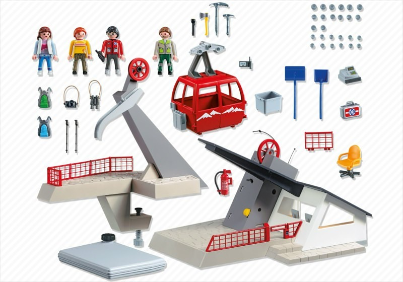 Playmobil 5426 - Cable car - Back