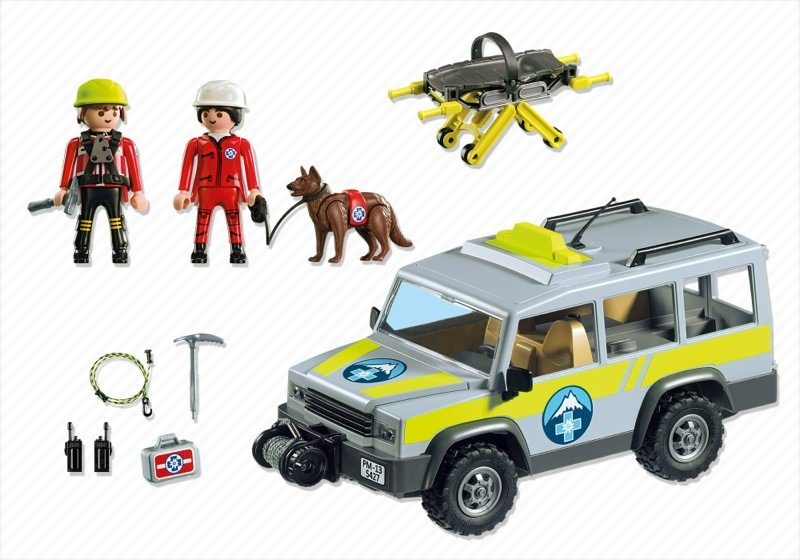 Playmobil 5427 - Mountain Rescue Truck - Back