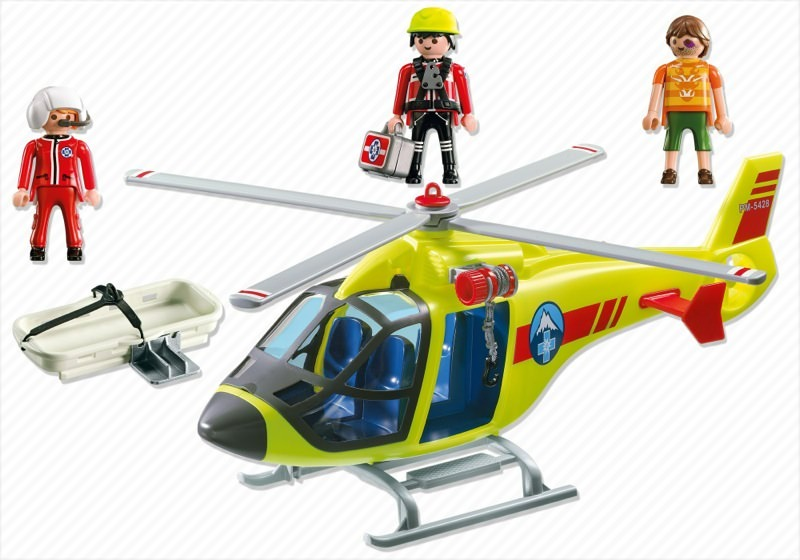 Playmobil 5428 - Mountain Rescue Helicopter - Back