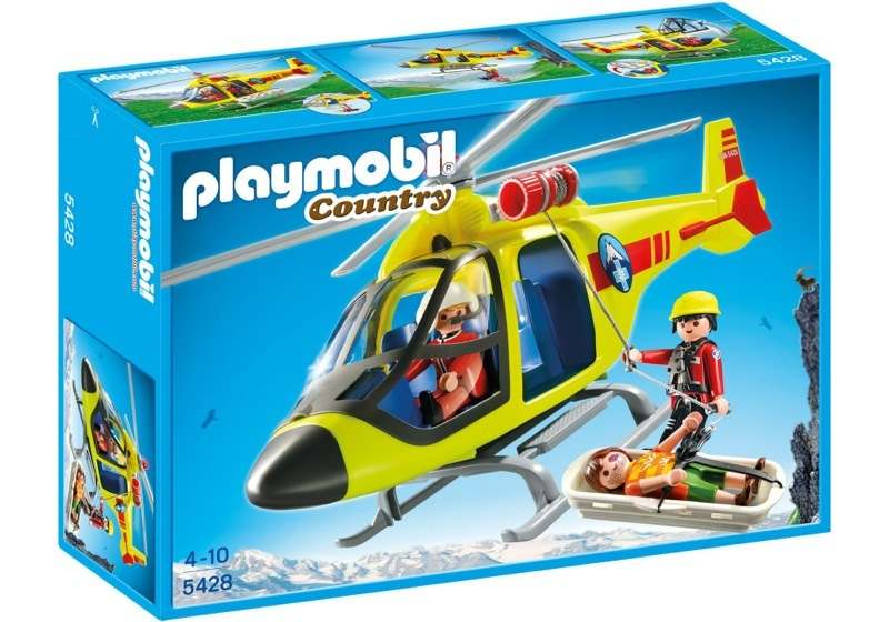 Playmobil 5428 - Mountain Rescue Helicopter - Box