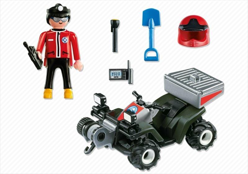 Playmobil 5429 - Mountain Rescue Quad - Back