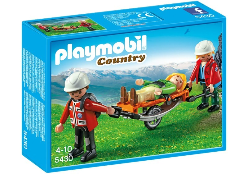 Playmobil 5430 - Mountain Rescuers with Stretcher - Box