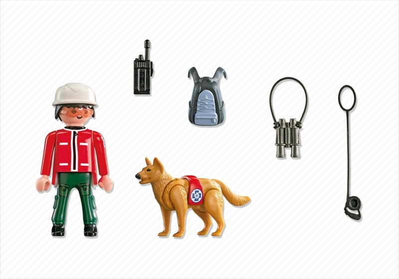 Playmobil 5431 - Mountain Rescuer with Search Dog - Back