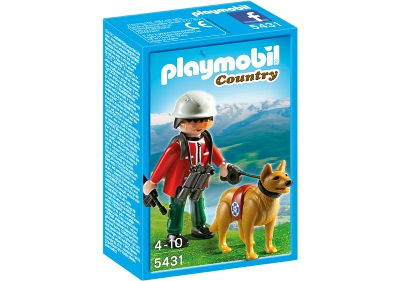 Playmobil 5431 - Mountain Rescuer with Search Dog - Box