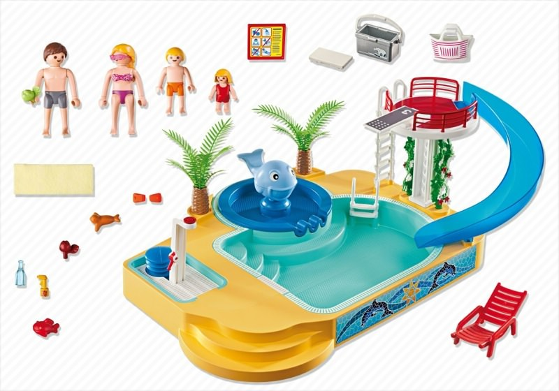 Playmobil 5433 - Children's Pool with Whale Fountain - Back