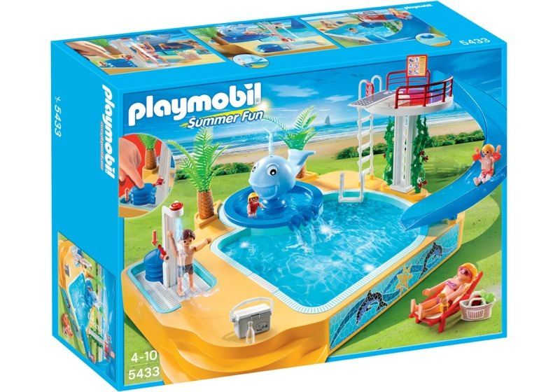 Playmobil 5433 - Children's Pool with Whale Fountain - Box