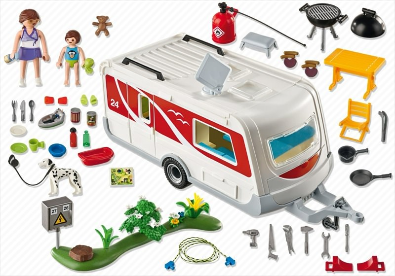 Playmobil 5434 - Family Caravan - Back
