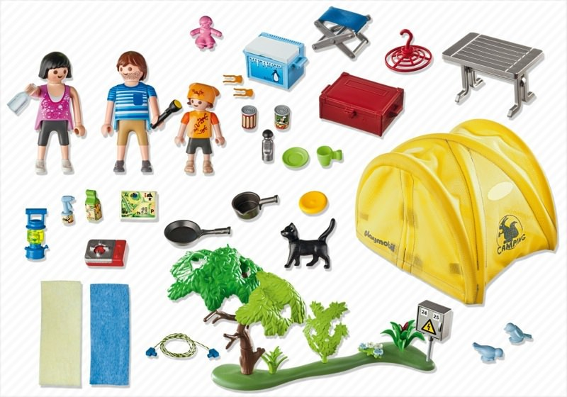 Playmobil 5435 - Family camping trip - Back