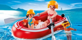 Playmobil - 5439 - Swimmers with Rubber Boat