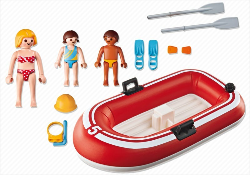 Playmobil 5439 - Swimmers with Rubber Boat - Back