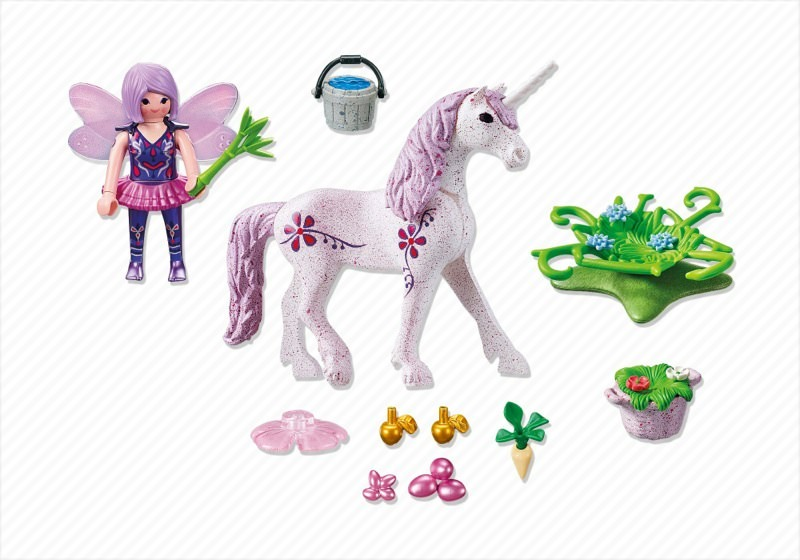 Playmobil 5440 - Food Fairy with Unicorn 'Morning Dew' - Back