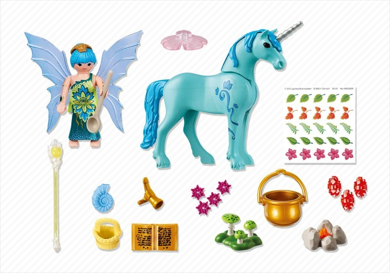 Playmobil 5441 - Healer Fairy with Unicorn 'Sapphire Night' - Back