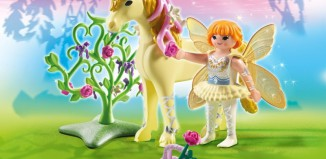 Playmobil - 5442 - Flower Fairy with Unicorn 'Sun Beam'