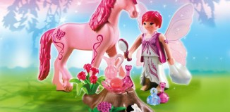 Playmobil - 5443 - Care Fairy with Unicorn 'Rose Red'