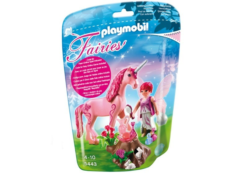 Playmobil 5443 - Care Fairy with Unicorn 'Rose Red' - Box