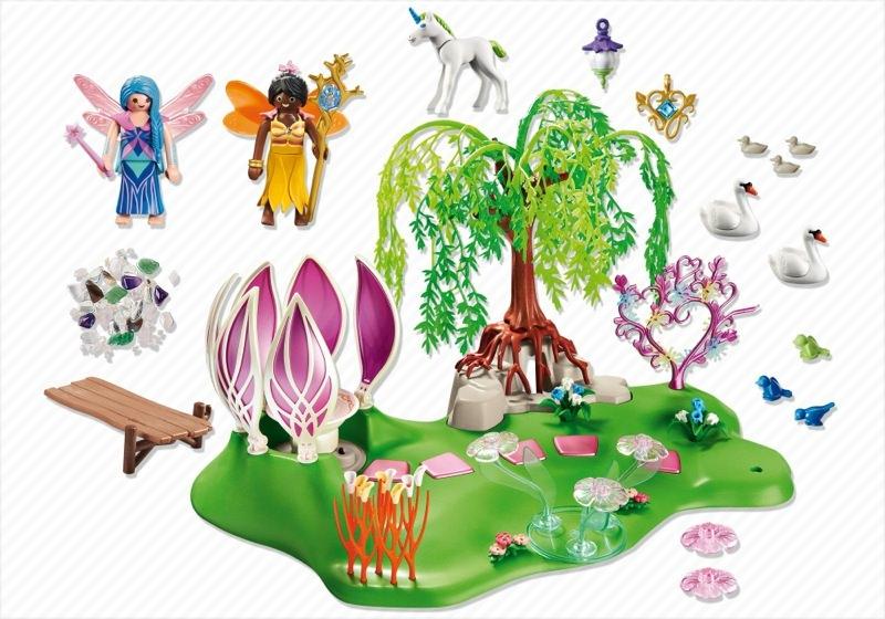 Playmobil 5444 - Fairy Island with Jewel Fountain - Back