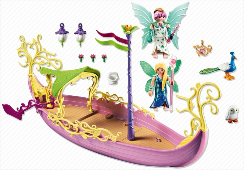 Playmobil 5445 - Fairy Queens Ship - Back