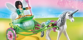 Playmobil - 5446 - Unicorn carriage with butterfly fairy