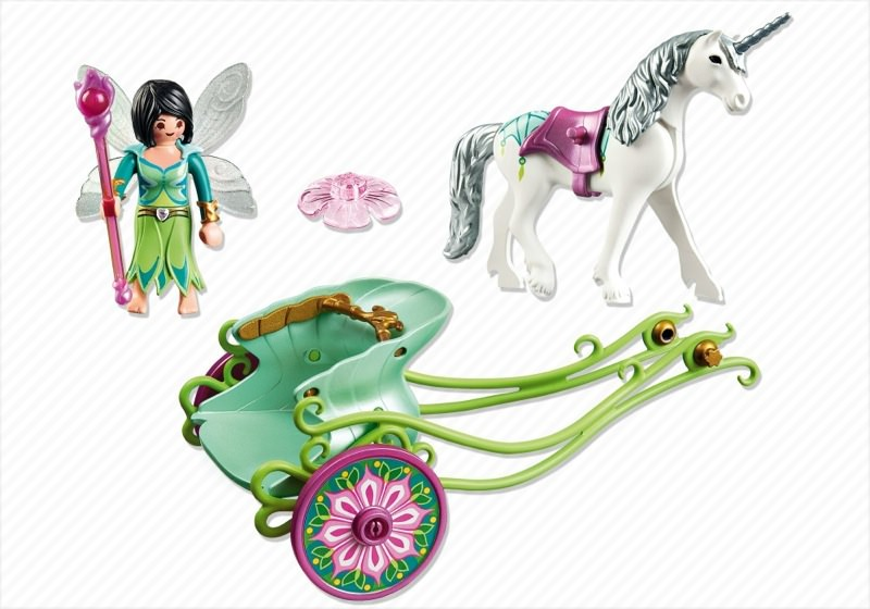 Playmobil 5446 - Unicorn carriage with butterfly fairy - Back