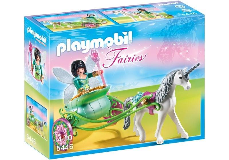 Playmobil 5446 - Fée Papillon avec calèche et licorne - Boîte