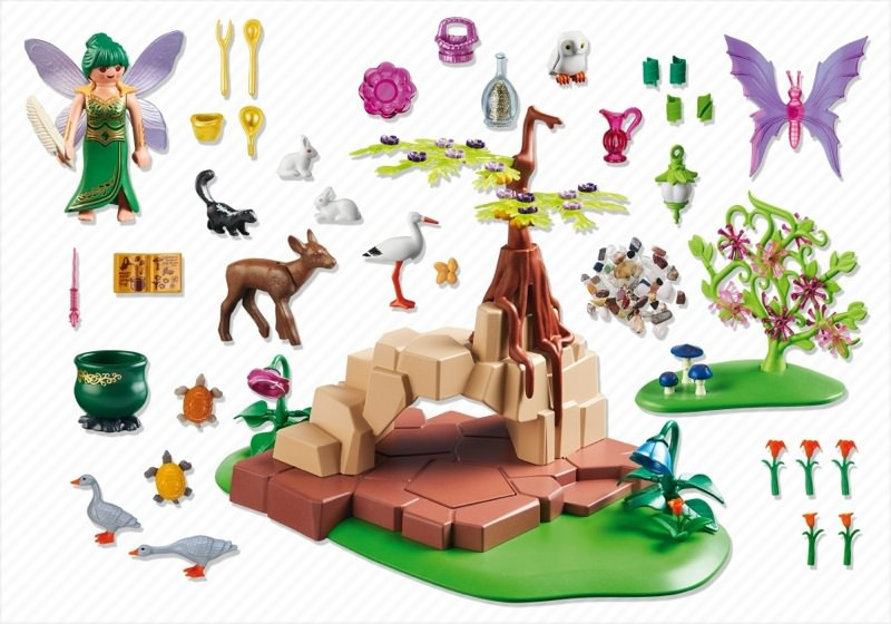 Playmobil 5447 - Healing Fairy Elixia in Animal Forest - Back