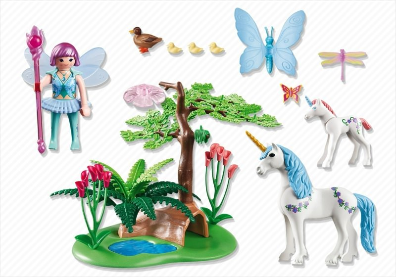 Playmobil 5450 - Fairy Aquarella in the Unicorn Meadow - Back
