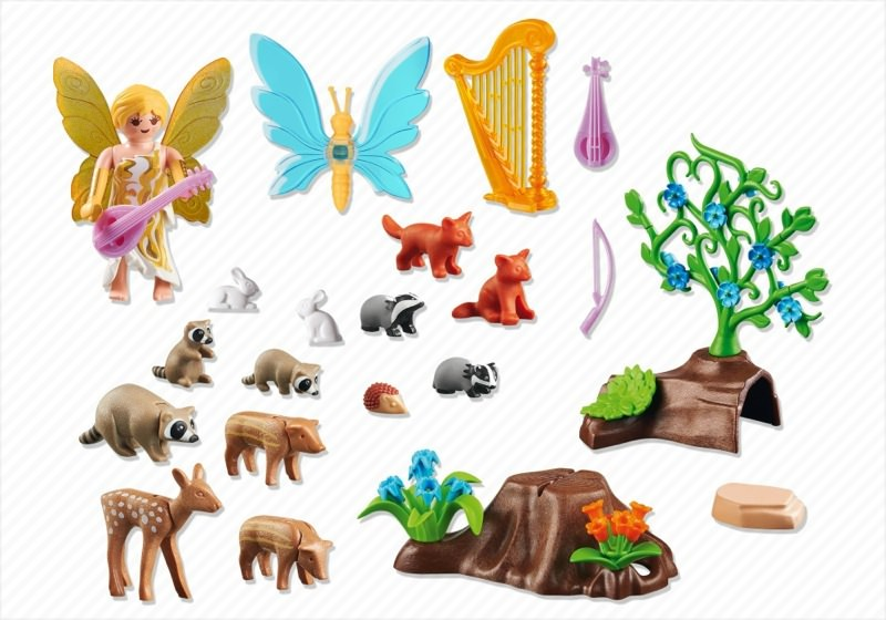 Playmobil 5451 - Music Fairy with Woodland Animals - Back