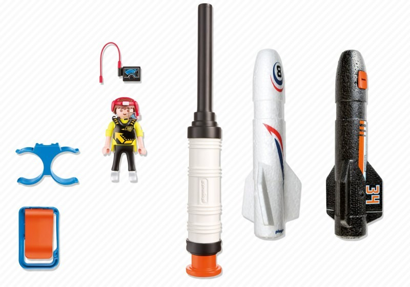 Playmobil 5452 - Power Rockete - Back
