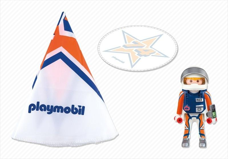 Playmobil 5455 - Fallschirmspringer Rick - Back