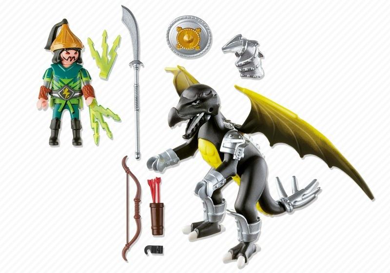 Playmobil 5465 - Lightning Dragon with Warrior - Back