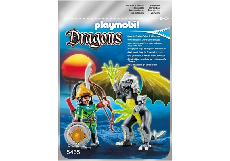 Playmobil 5465 - Lightning Dragon with Warrior - Box