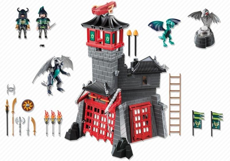 Playmobil 5480 - Secret Dragon Fort - Back