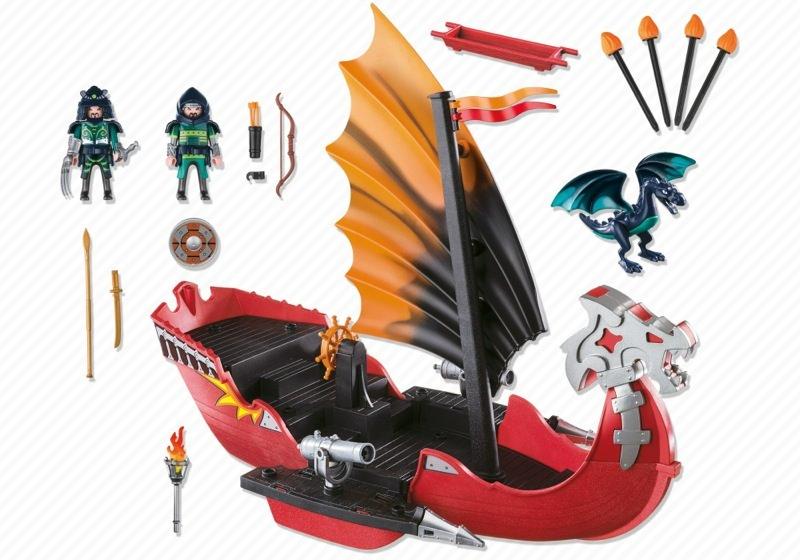 Playmobil 5481 - Drachen-Kampfschiff - Back