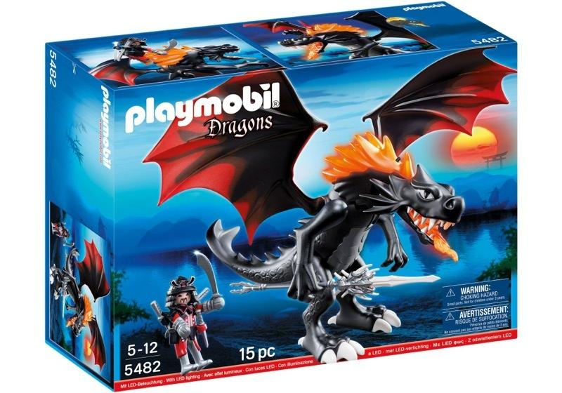 Playmobil 5482 - Riesen-Kampfdrache mit Feuer-LEDs - Box