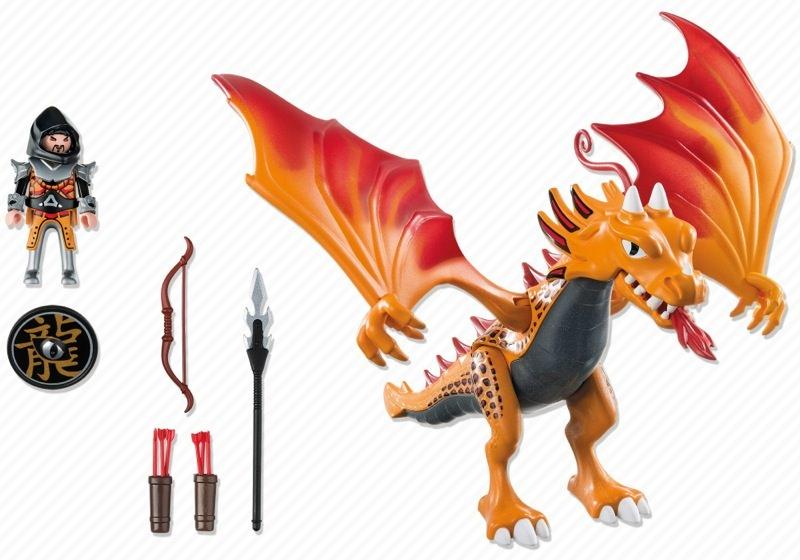 Playmobil 5483 - Fire dragon - Back