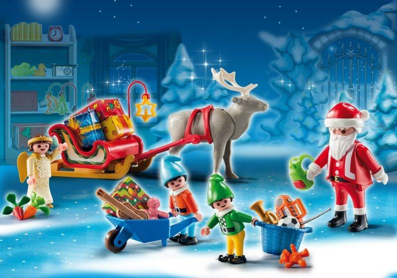 Playmobil Weihnachtskalender.Playmobil Set 5494 Adventskalender Weihnachtsmann Beim Geschenke