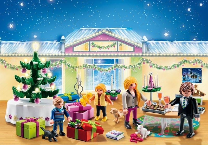 playmobil set 5496 advent calendar christmas eve with illuminated tree klickypedia