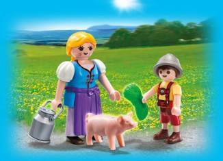 Playmobil - 5514 - Country Woman and Boy Duo Pack