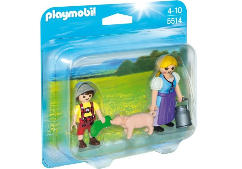 Playmobil 5514 - Country Woman and Boy Duo Pack - Box