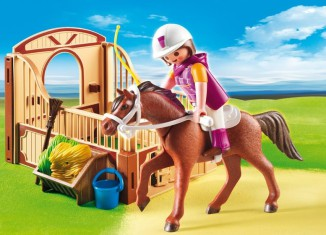 Playmobil - 5518 - Shagya with brown-beige horse box