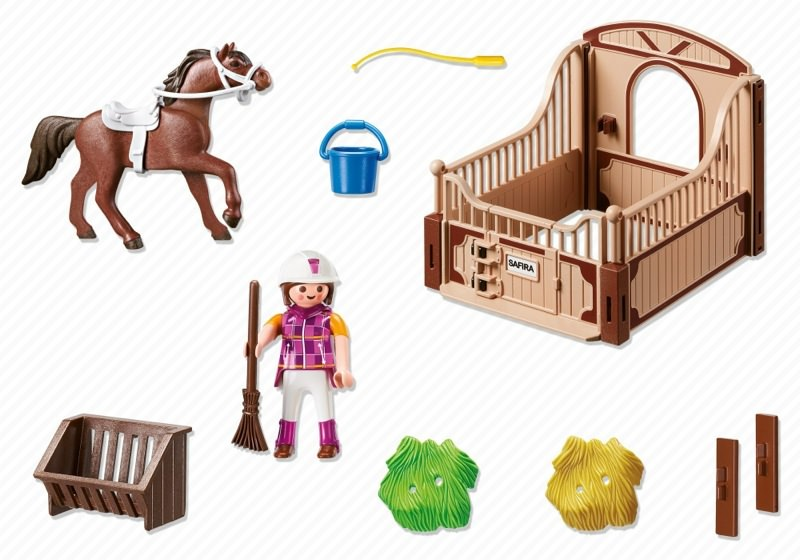 Playmobil 5518 - Shagya with brown-beige horse box - Back