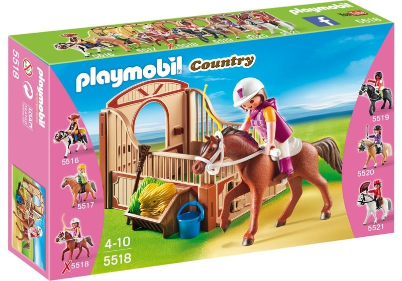 Playmobil 5518 - Shagya with brown-beige horse box - Box