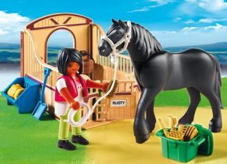 Playmobil - 5519 - Friese with brown-beige horsebox