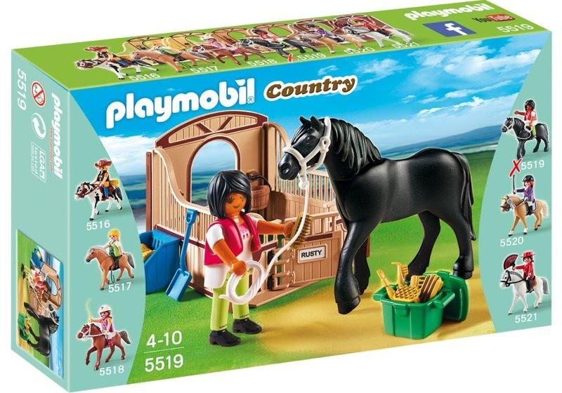 Playmobil 5519 - Friese with brown-beige horsebox - Box