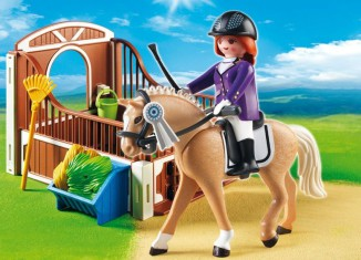 Playmobil - 5520 - Warmblut with white-brown horsebox