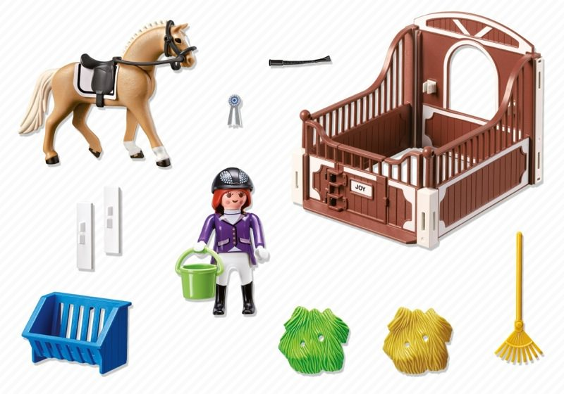 Playmobil 5520 - Warmblut with white-brown horsebox - Back