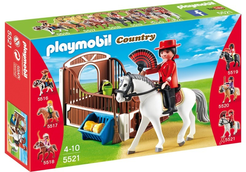 Playmobil 5521 - Andalusian horse box with white-brown - Box