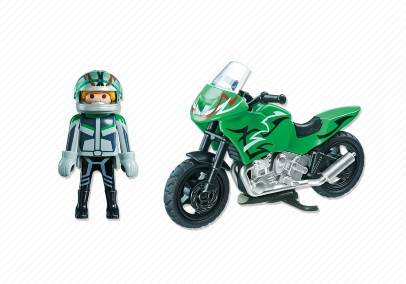 Playmobil 5524 - Sports Bike - Back